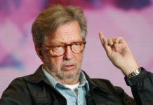 """Eric Clapton durante promoção do filme """"Life in 12 Bars"""""""