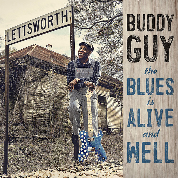"Capa do álbum ""The Blues Is Alive And Well""(2018) do guitarrista Buddy Guy"