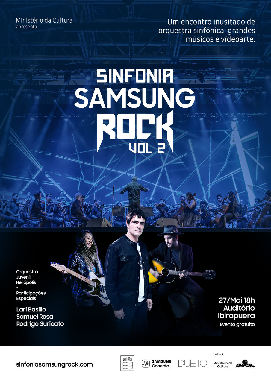 Poster da Segunda Edição Sinfonia Samsung Rock