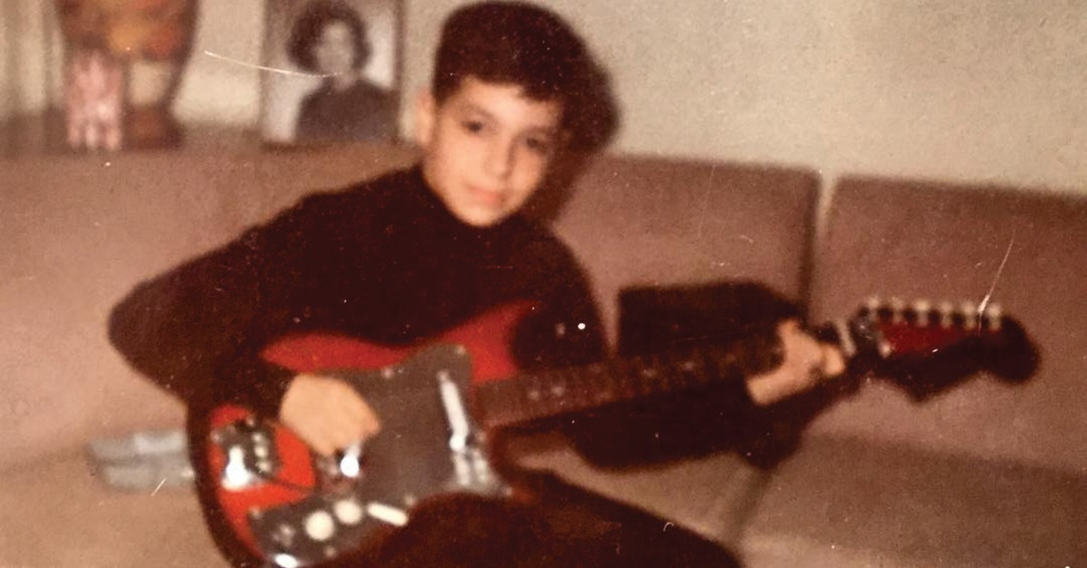 Al Di Meola com sua primeira guitarra