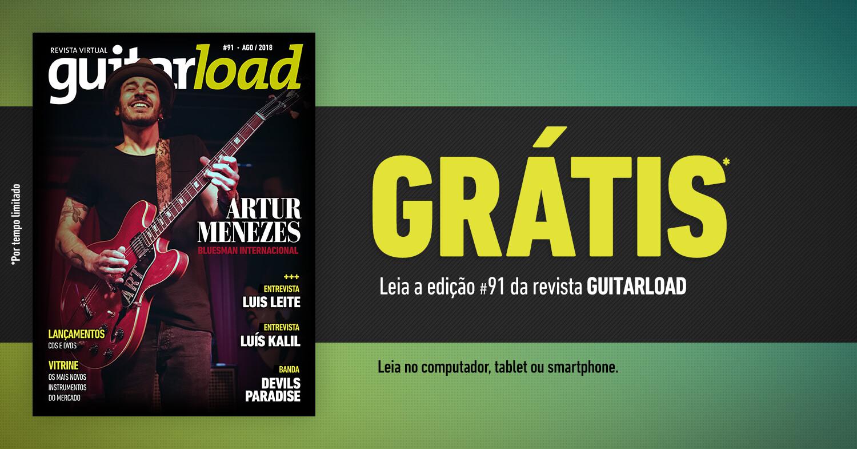 Capa da edição 91 da revista Guitarload com Artur Menezes
