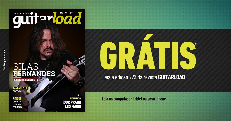 Capa da edição 92 da revista Guitarload com Ricardo Marins